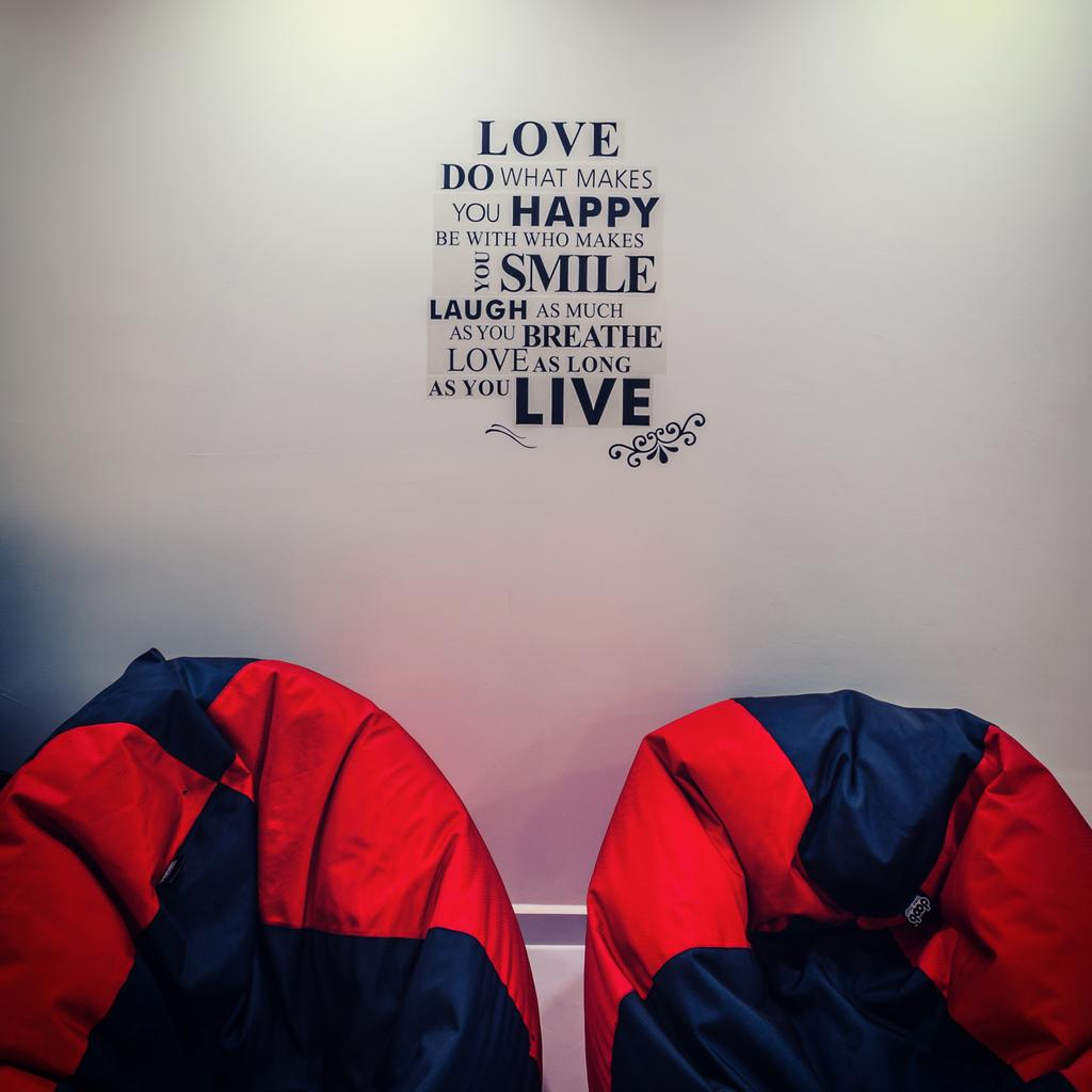 Contemporary, HDB, Living Room, Anchorvale Street (Block 331A), Interior Designer, Le Interi, Wall Decal, Wall Design, Wall Art, Bean Bags, Camping, Leisure Activities