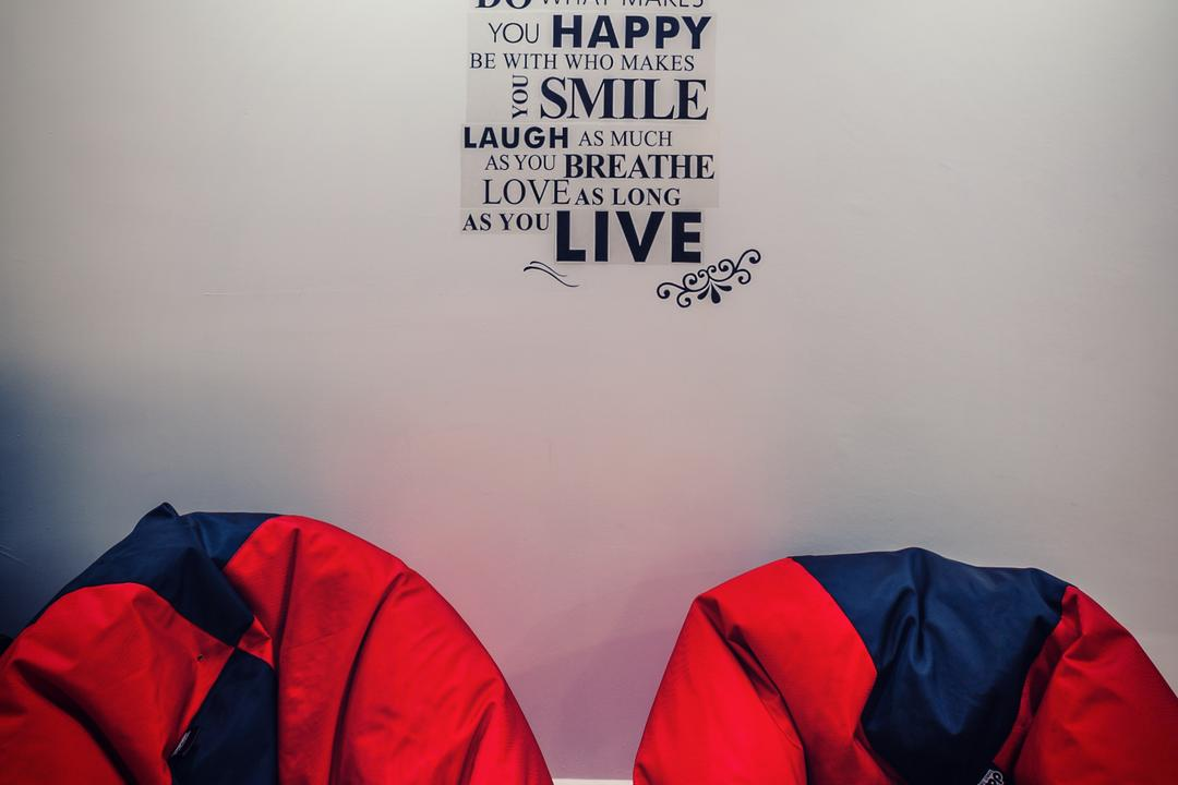 Anchorvale Street (Block 331A), Le Interi, Contemporary, Living Room, HDB, Wall Decal, Wall Design, Wall Art, Bean Bags, Camping, Leisure Activities