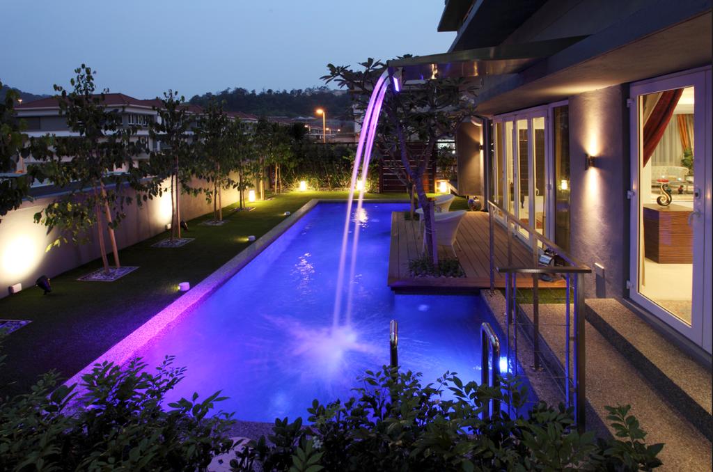 Traditional, Landed, Rafflesia, Interior Designer, The Grid Studio, Fountain, Water, Building, Hotel, Resort