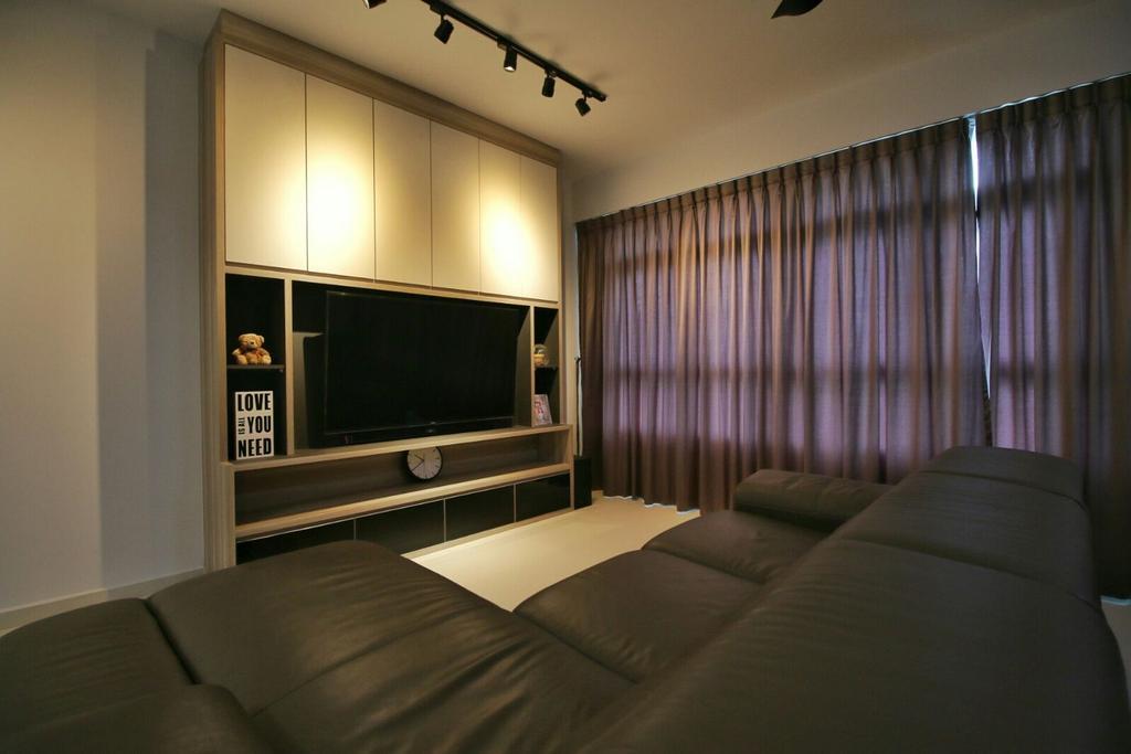Modern, HDB, Living Room, Fernvale Lea (Block 468), Interior Designer, Unity ID