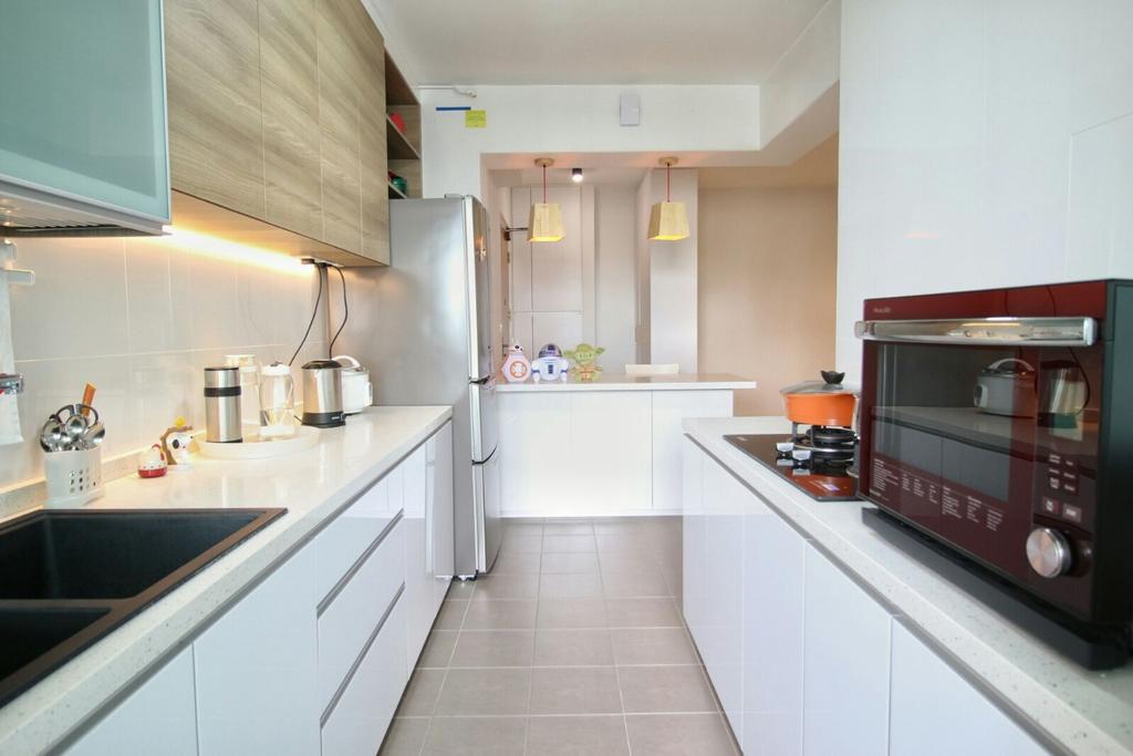 Modern, HDB, Kitchen, Fernvale Lea (Block 468), Interior Designer, Unity ID