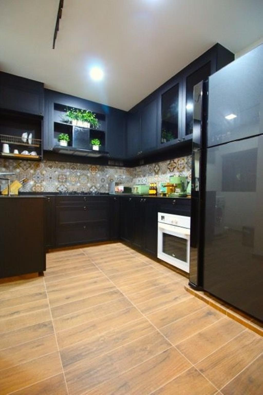 Retro, HDB, Kitchen, Towner, Interior Designer, Unity ID