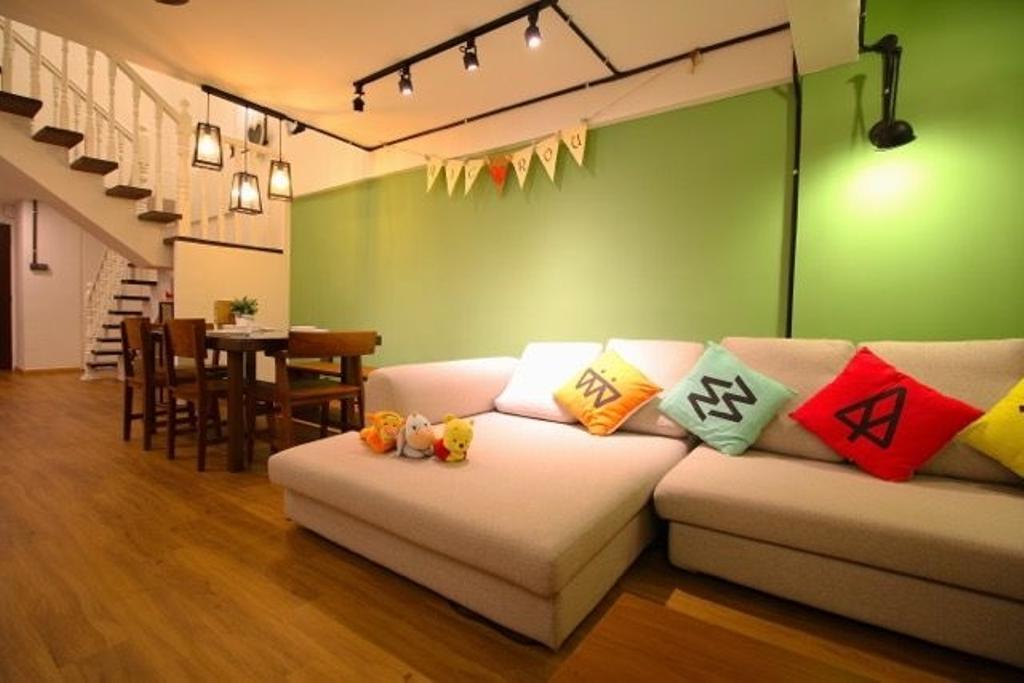 Retro, HDB, Living Room, Towner, Interior Designer, Unity ID