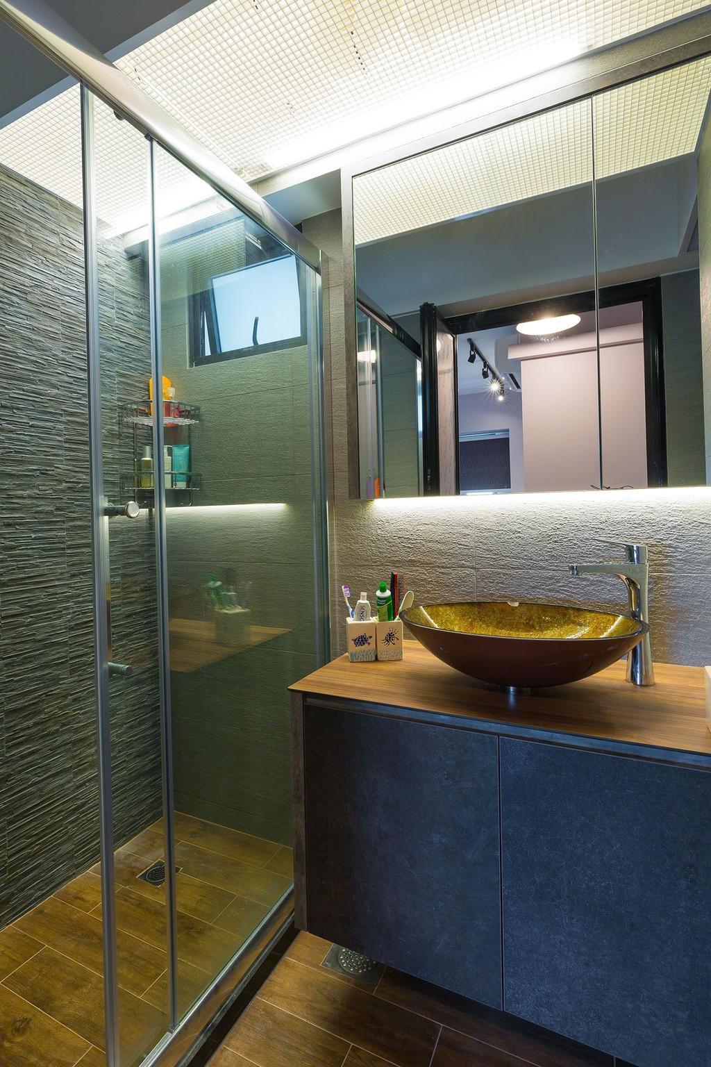 Industrial, HDB, Bathroom, 87 Dawson Road, Interior Designer, Unity ID