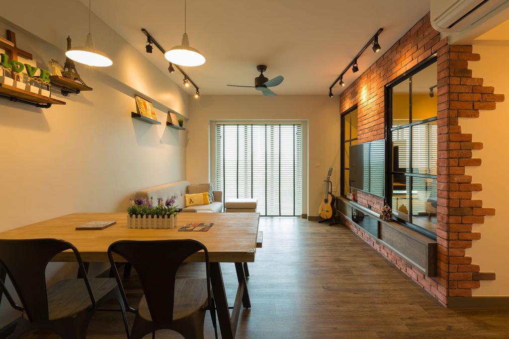 Industrial, HDB, Dining Room, 87 Dawson Road, Interior Designer, Unity ID