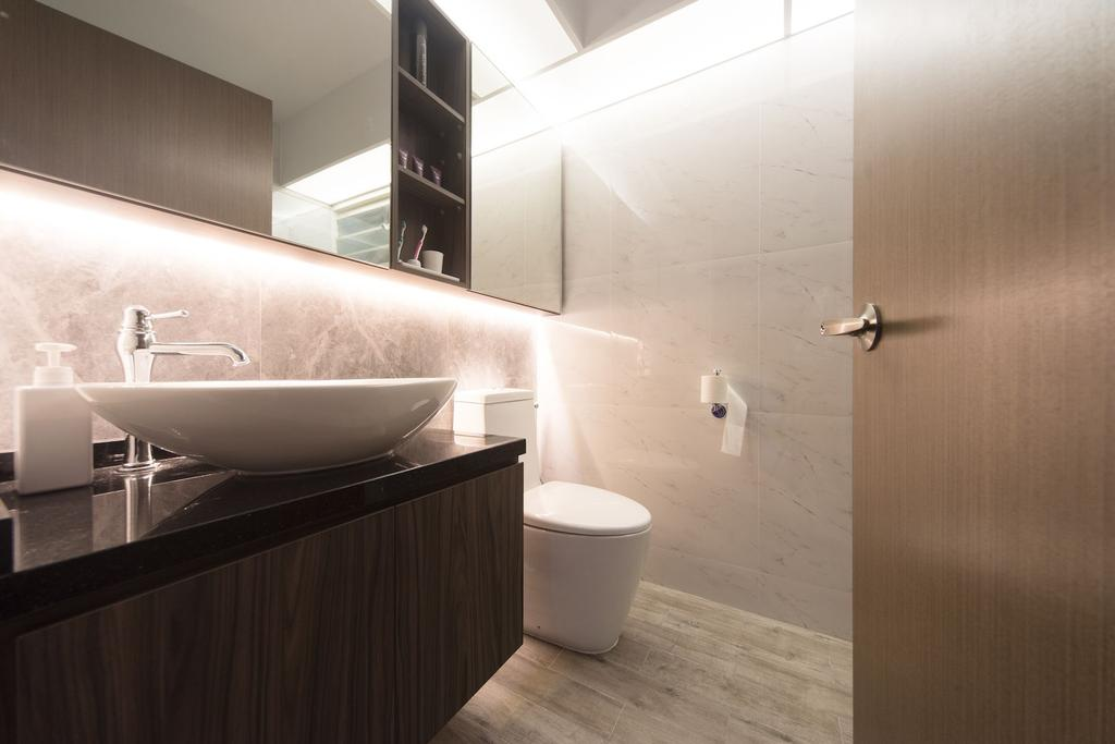 Contemporary, HDB, Bathroom, Punggol Drive (Block 664B), Interior Designer, Unity ID