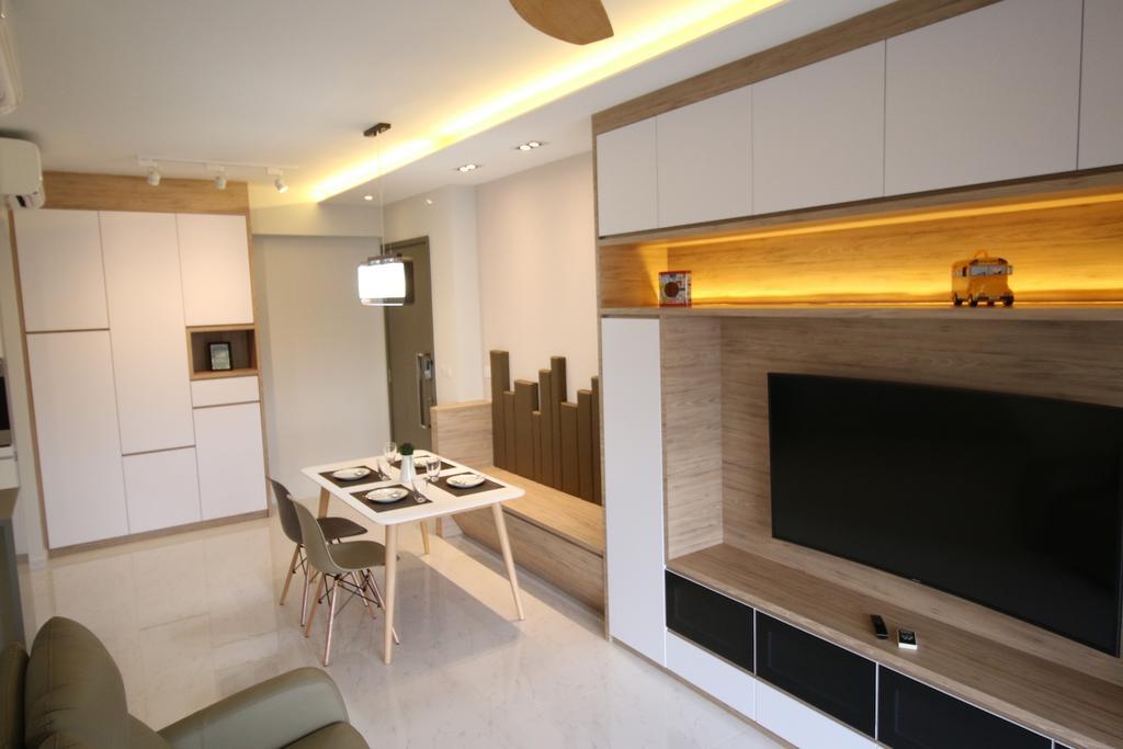 Modern, Condo, Living Room, City Line, Interior Designer, Unity ID