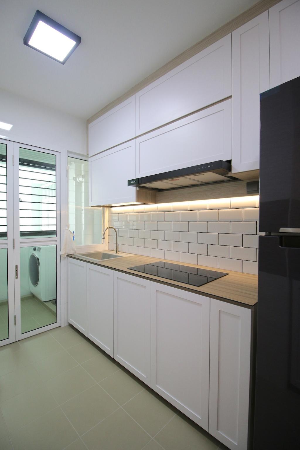 Minimalistic, HDB, Kitchen, Compassvale Crescent, Interior Designer, Unity ID