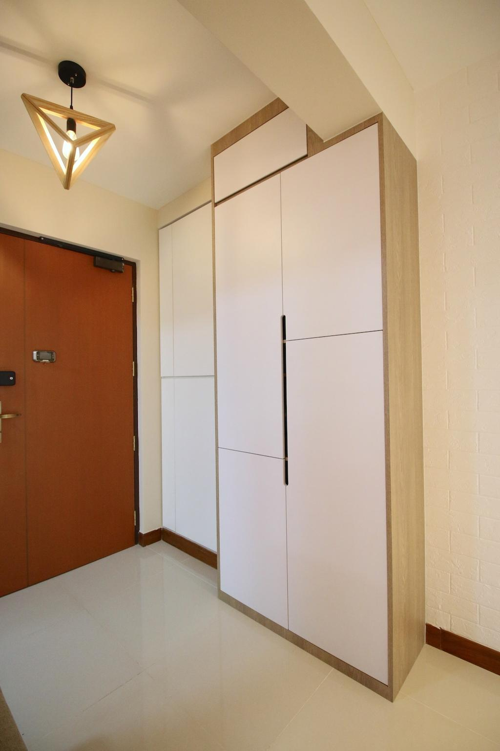 Minimalistic, HDB, Bedroom, Compassvale Crescent, Interior Designer, Unity ID