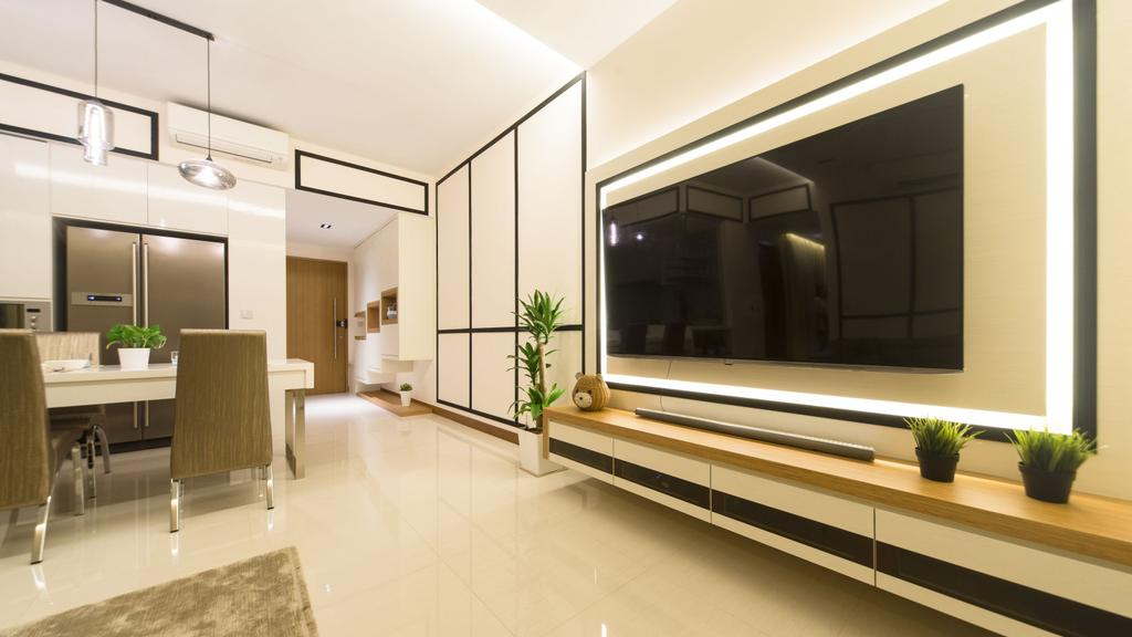 Modern, Condo, Living Room, Seastrand, Interior Designer, Unity ID