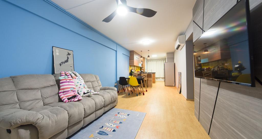 Scandinavian, HDB, Living Room, Serangoon Avenue 3, Interior Designer, Unity ID