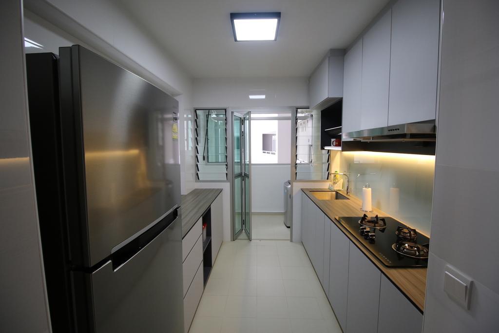 Minimalistic, HDB, Kitchen, Yishun Street 51, Interior Designer, Unity ID