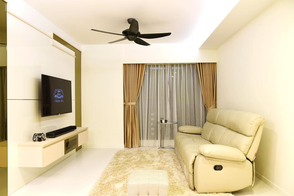 Modern, HDB, Living Room, Dawson Sky Terrace, Interior Designer, DS 2000 Interior & Design, Propeller, Shelf, Chair, Furniture