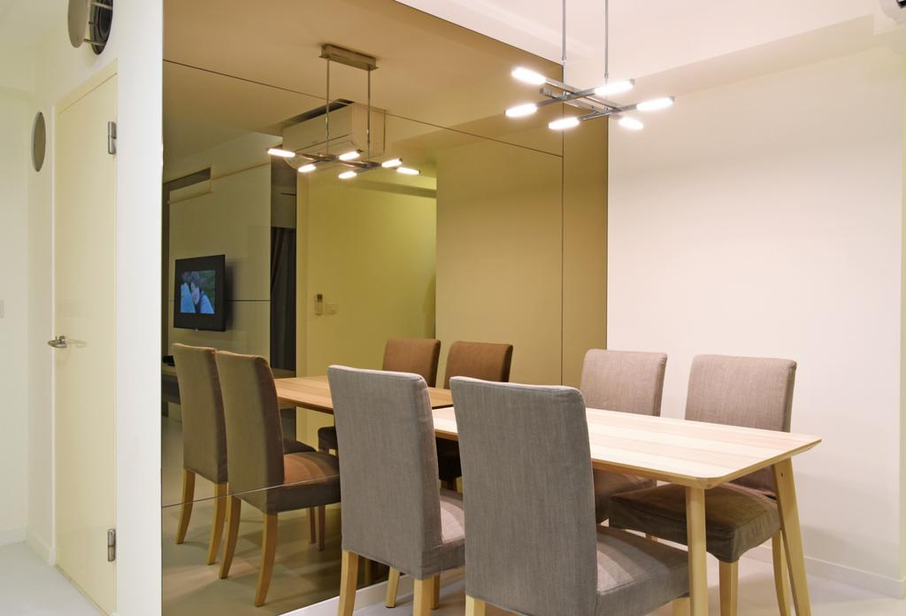 Modern, HDB, Dining Room, Dawson Sky Terrace, Interior Designer, DS 2000 Interior & Design, Chair, Furniture, Dining Table, Table, Indoors, Interior Design, Room