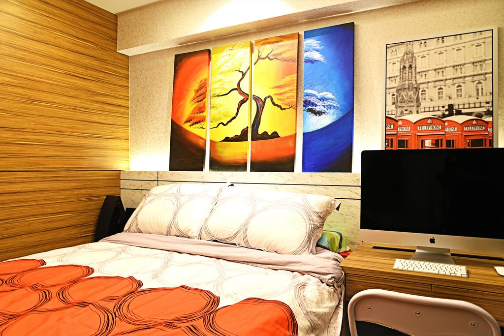 Traditional, HDB, Bedroom, Jurong, Interior Designer, DS 2000 Interior & Design, Bed, Furniture, Cinema, Indoors, Interior Design, Room, Theater, Building, Housing