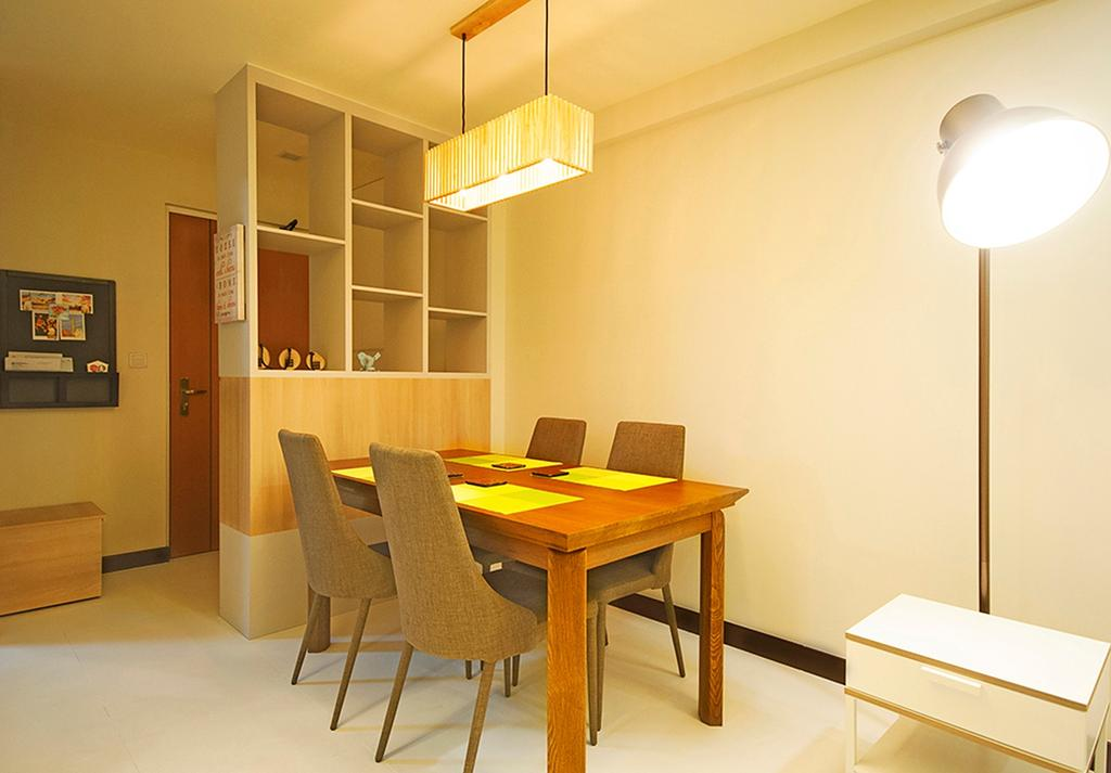 Minimalistic, HDB, Dining Room, Punggol Topaz, Interior Designer, DS 2000 Interior & Design, Scandinavian, Chair, Furniture, Indoors, Interior Design, Room, Desk, Table, Dining Table, Light Fixture