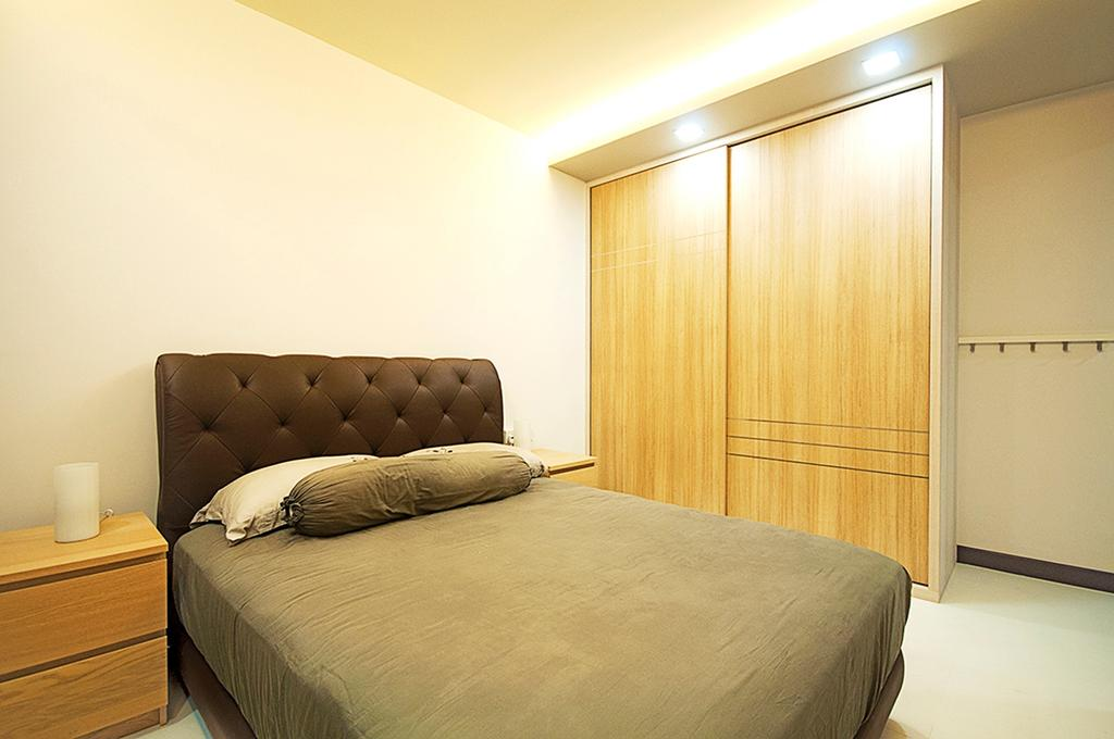 Minimalist, HDB, Bedroom, Punggol Topaz, Interior Designer, DS 2000 Interior & Design, Scandinavian, Indoors, Interior Design, Room, Bed, Furniture, Couch