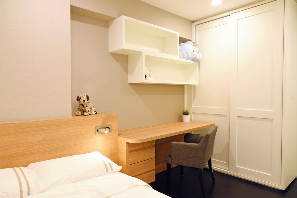 Modern, HDB, Bedroom, Punggol Waterway Terrace, Interior Designer, DS 2000 Interior & Design, Shelf, Chair, Furniture