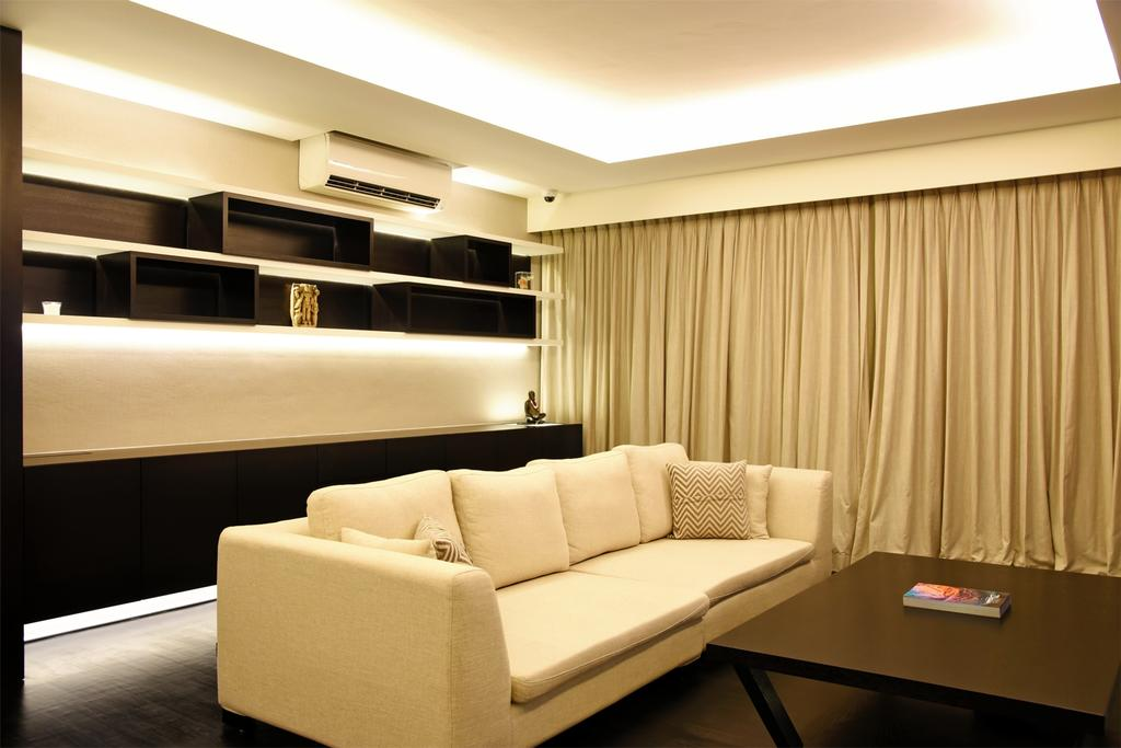 Modern, HDB, Living Room, Punggol Waterway Terrace, Interior Designer, DS 2000 Interior & Design, Couch, Furniture, Indoors, Interior Design, Lighting