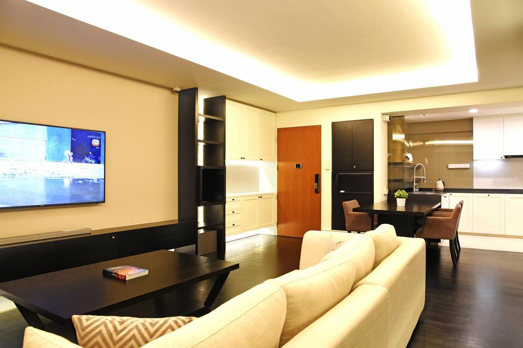 Modern, HDB, Living Room, Punggol Waterway Terrace, Interior Designer, DS 2000 Interior & Design, Couch, Furniture, Electronics, Entertainment Center, Home Theater