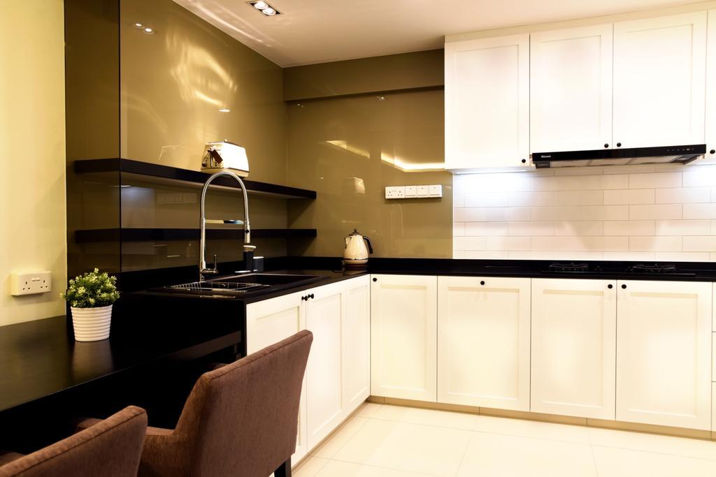 Modern, HDB, Kitchen, Punggol Waterway Terrace, Interior Designer, DS 2000 Interior & Design, Couch, Furniture, Indoors, Interior Design