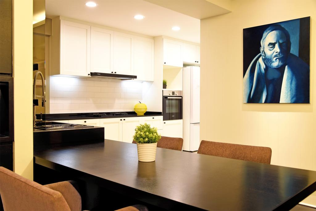 Modern, HDB, Dining Room, Punggol Waterway Terrace, Interior Designer, DS 2000 Interior & Design, Flora, Jar, Plant, Potted Plant, Pottery, Vase, Human, People, Person, Dining Table, Furniture, Table, Art, Painting, Indoors, Interior Design, Room, Plywood, Wood