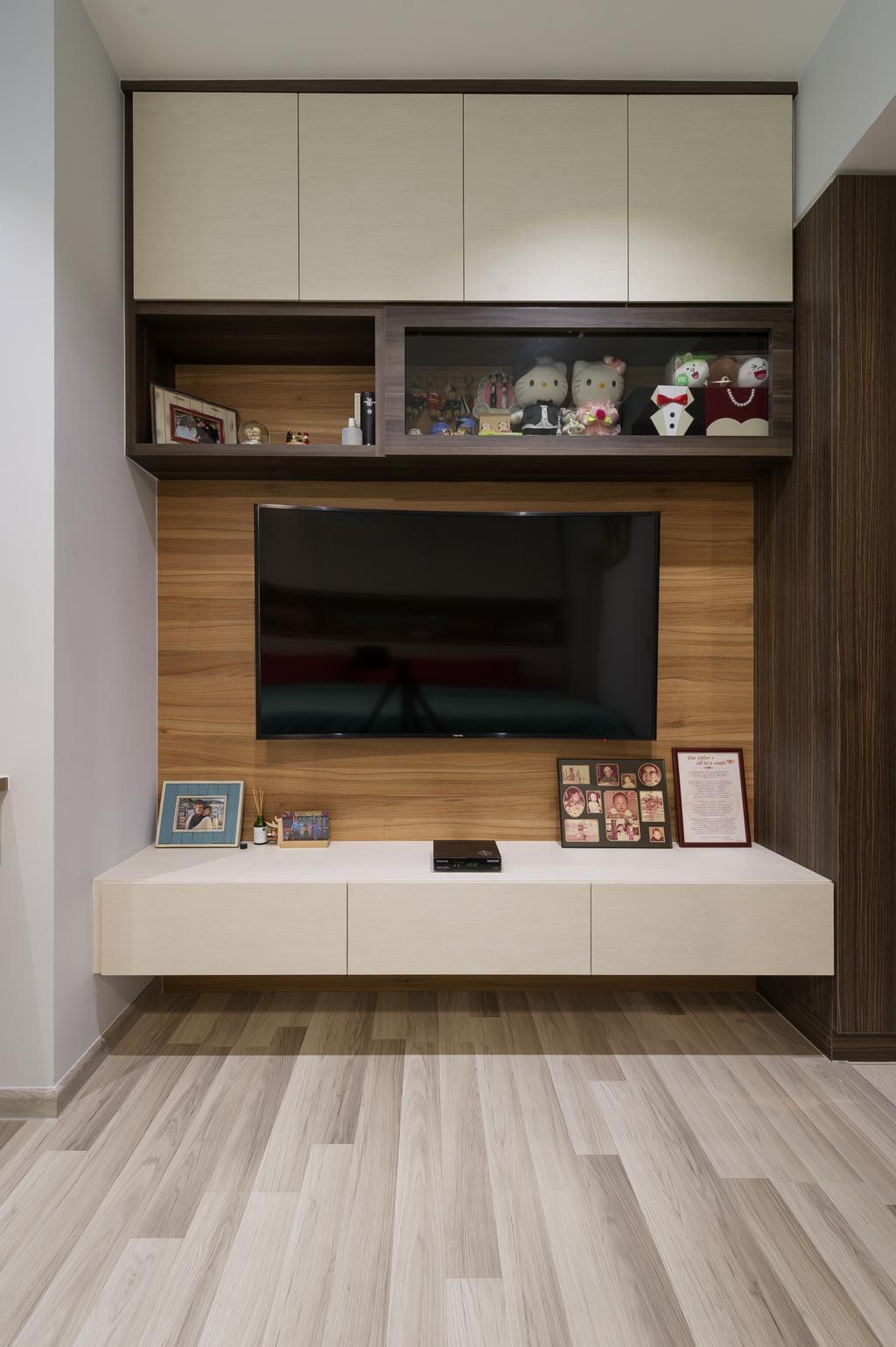 Scandinavian, Condo, Living Room, La Fiesta, Interior Designer, ELPIS Interior Design, Electronics, Entertainment Center