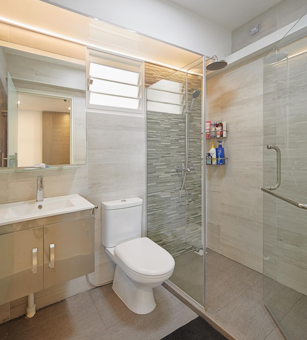 Contemporary, HDB, Bathroom, Matilda Portico, Interior Designer, Absolook Interior Design, Toilet, Indoors, Interior Design, Room