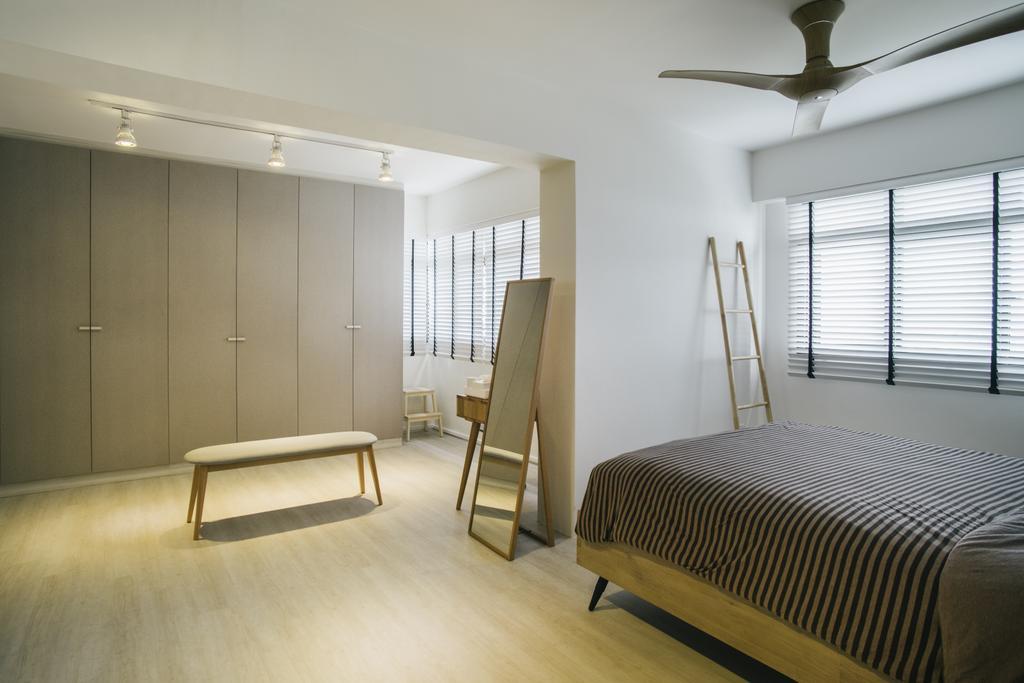 Contemporary, HDB, Bedroom, Senja Gateway (Block 635A), Interior Designer, Starry Homestead, Chair, Furniture, Flooring, Indoors, Interior Design, Room