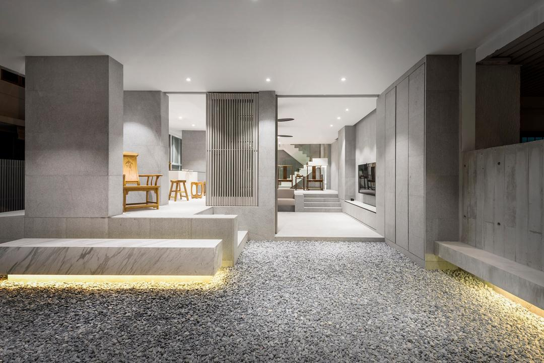 Ply House, UPSTAIRS_, Modern, Balcony, Landed, Dirt Road, Gravel, Road, Furniture