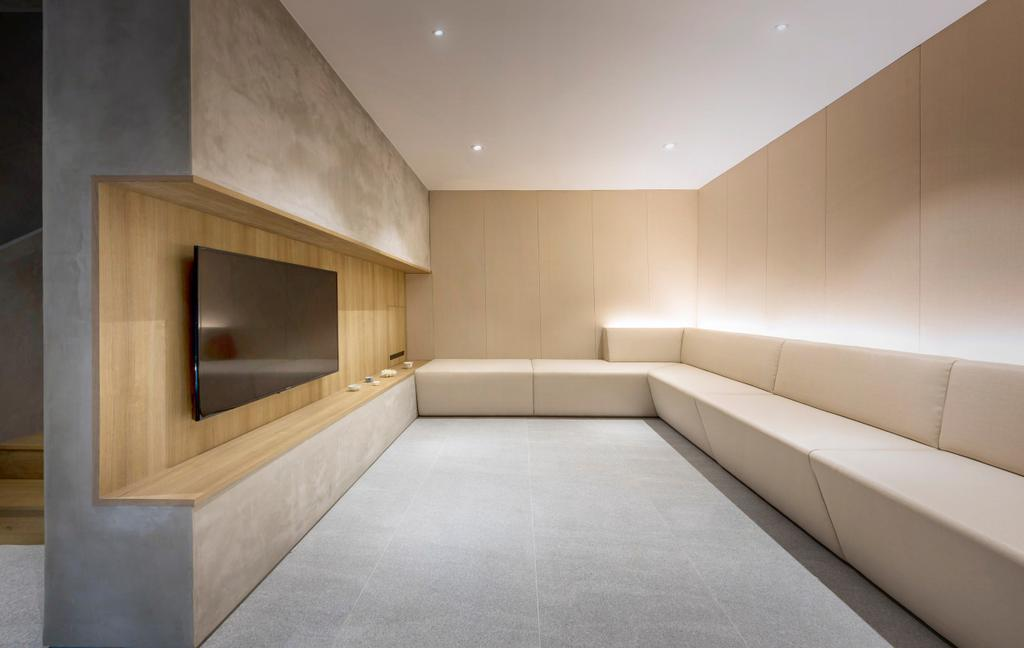 Modern, Landed, Living Room, Ply House, Architect, UPSTAIRS_, Indoors, Interior Design, Basement, Room