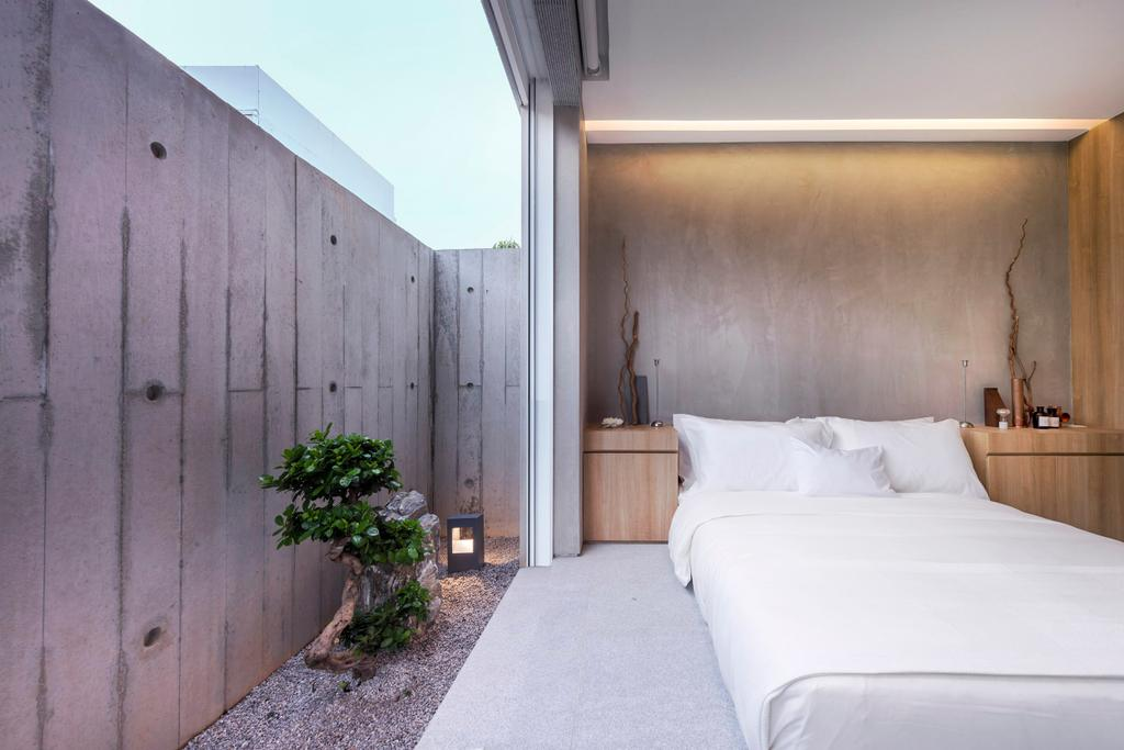 Modern, Landed, Bedroom, Ply House, Architect, UPSTAIRS_, Bonsai, Flora, Jar, Plant, Potted Plant, Pottery, Tree, Vase