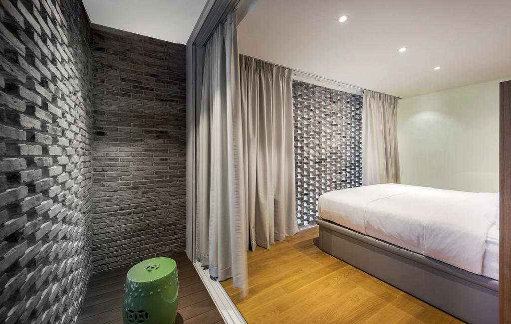 Modern, Landed, Bedroom, Ply House, Architect, UPSTAIRS_, Bed, Furniture, Indoors, Interior Design, Room