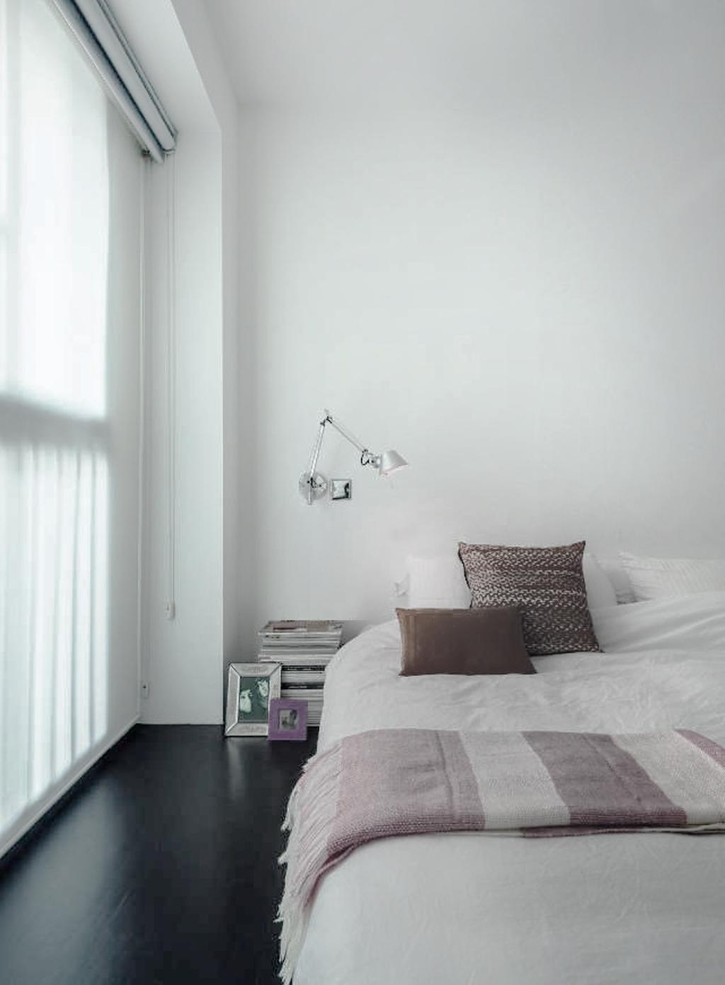 Scandinavian, Condo, Bedroom, The Gallery Apartment, Architect, UPSTAIRS_, Modern Contemporary Bedroom, Roll Down Curtain, King Size Bed, Cozy, Cosy, Indoors, Interior Design, Room, Book