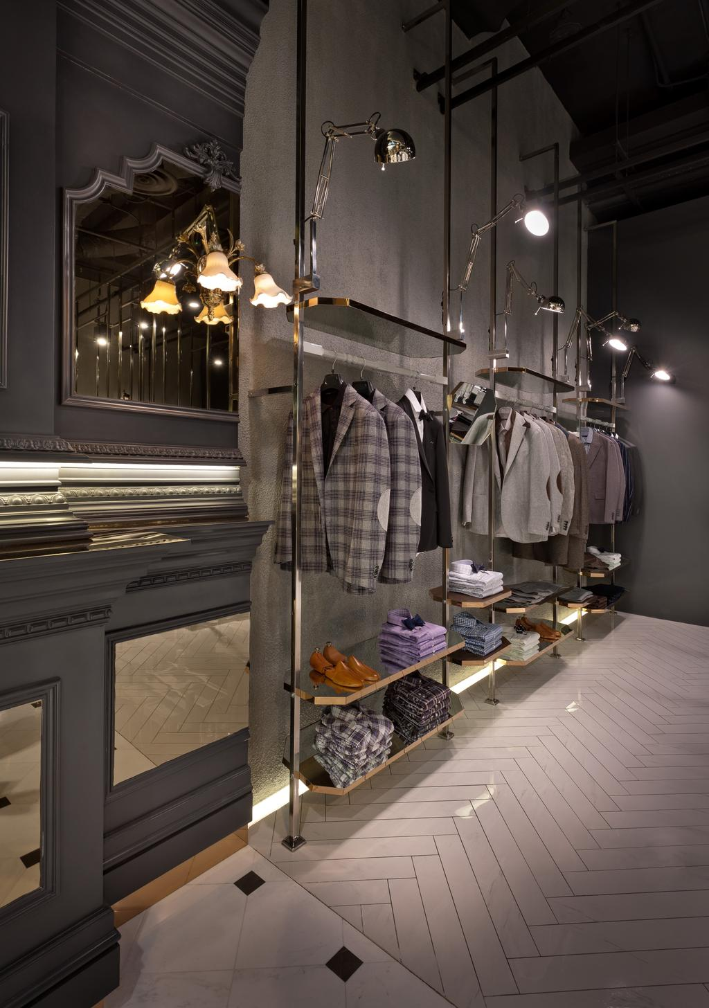 N.Tyler Flagship Boutique, Commercial, Architect, UPSTAIRS_, Modern, Industrial, Apparel, Clothing