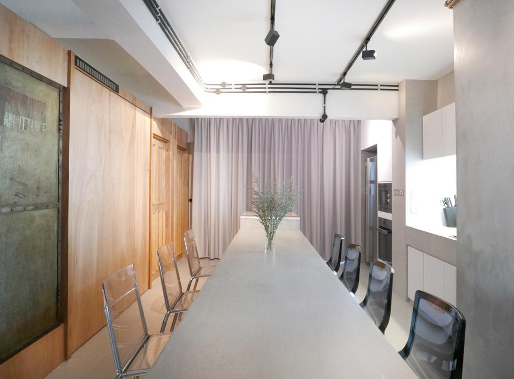 Scandinavian, Condo, Dining Room, The Crate Apartment, Architect, UPSTAIRS_, Corridor