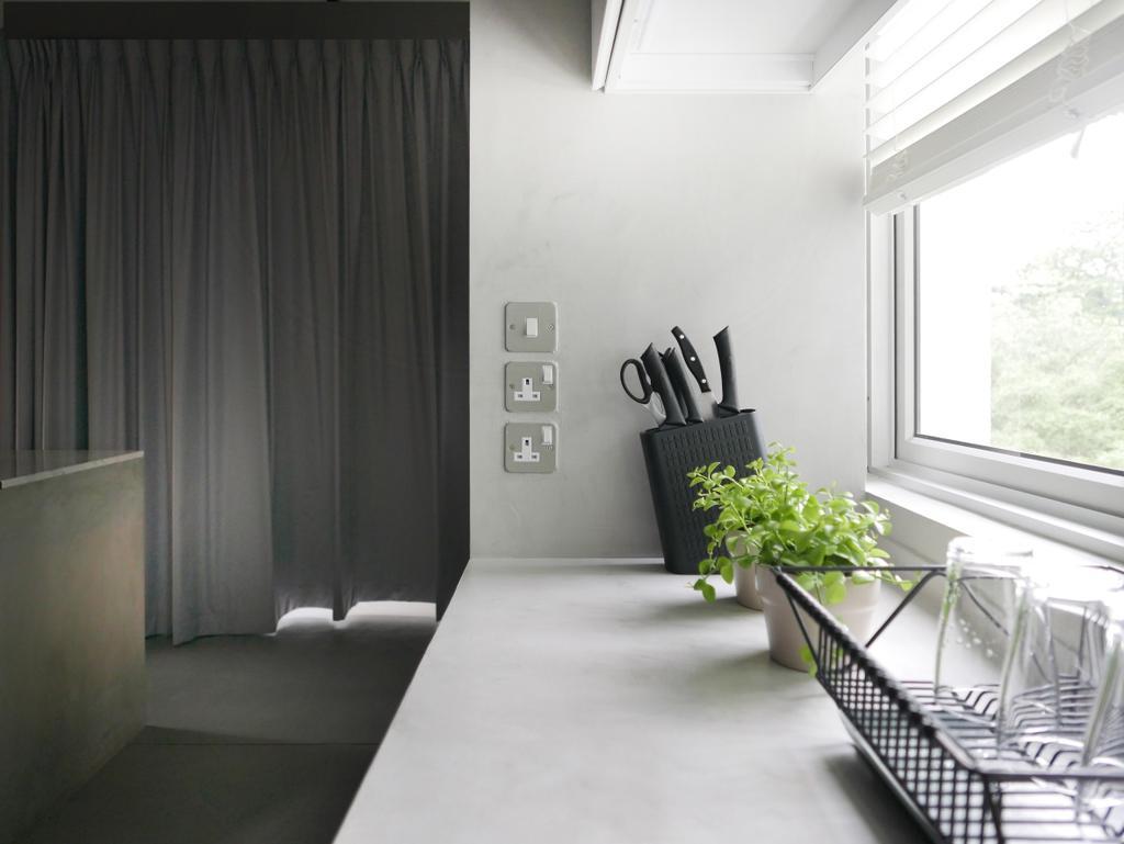 Scandinavian, Condo, Kitchen, The Crate Apartment, Architect, UPSTAIRS_, Banister, Handrail