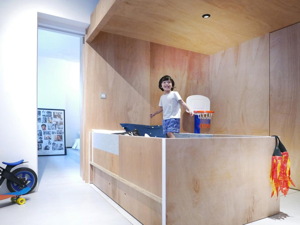 Scandinavian, Condo, Bedroom, The Crate Apartment, Architect, UPSTAIRS_, Kids Room, Human, People, Person, Bowl, Furniture, Reception
