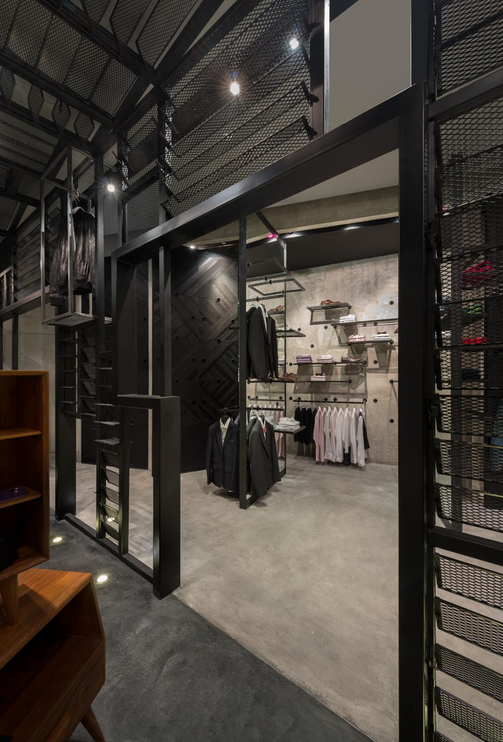 Crocodile Concept Boutique, Commercial, Architect, UPSTAIRS_, Industrial, Chair, Furniture, Shop
