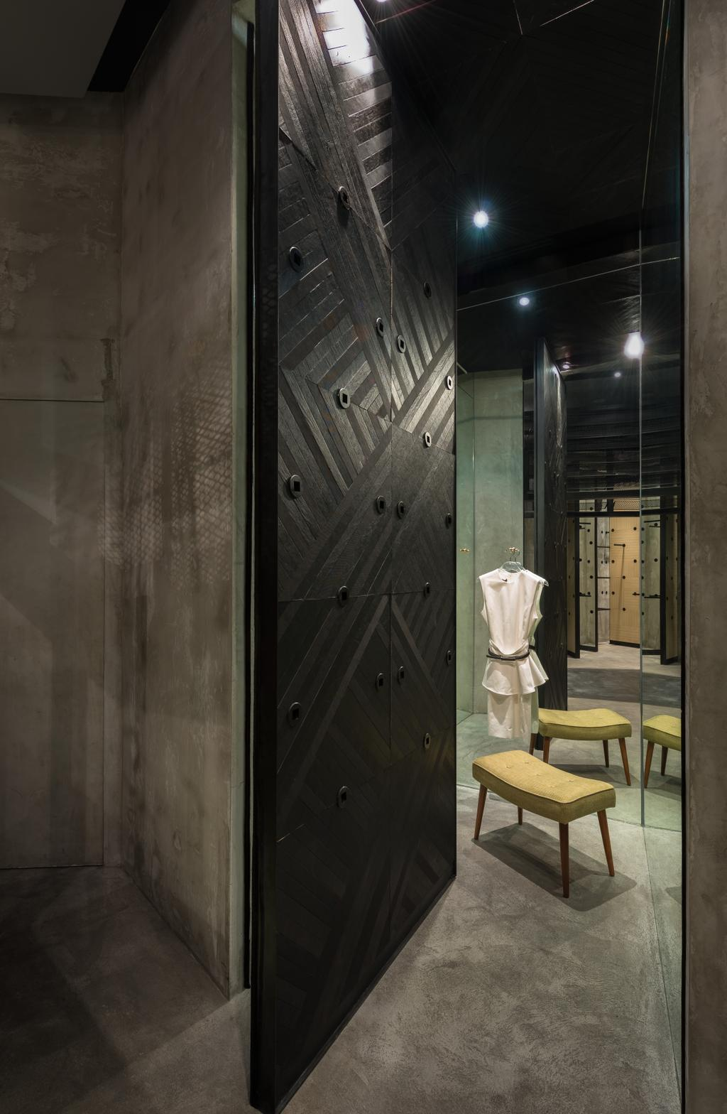 Crocodile Concept Boutique, Commercial, Architect, UPSTAIRS_, Industrial, Human, People, Person, Chair, Furniture