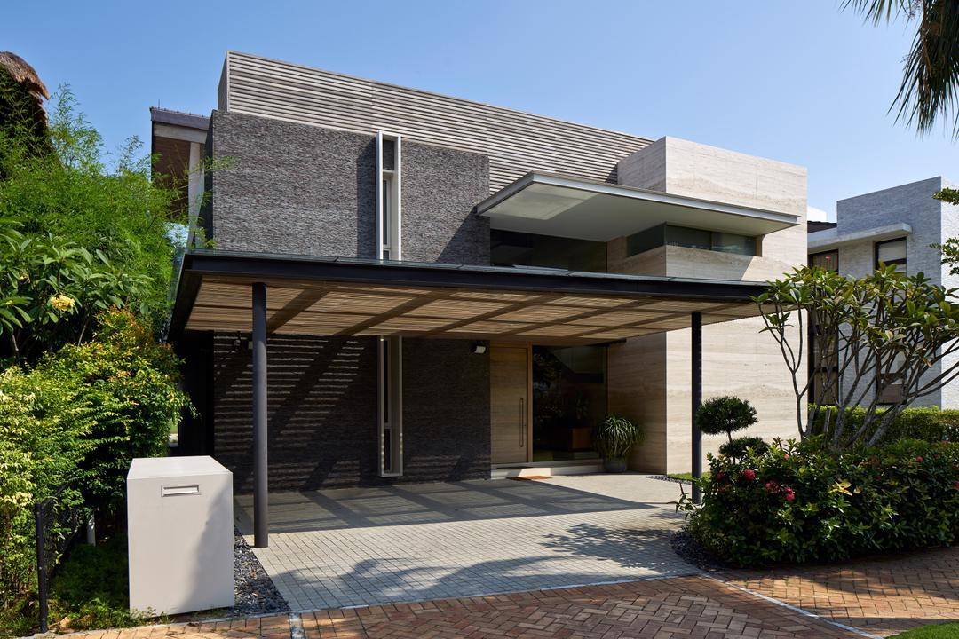 Cove Drive 4, Greg Shand Architects, Modern, Landed, Shelter, Plants, Exterior View, Two Storey, Flora, Jar, Plant, Potted Plant, Pottery, Vase, Vegetation, Building, Cottage, House, Housing