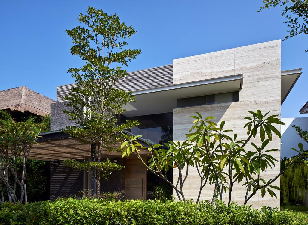 Modern, Landed, Cove Drive 4, Architect, Greg Shand Architects, Exterior View, Shelter, Plants, Two Storey, Building, House, Housing, Villa, Patio, Pergola, Porch