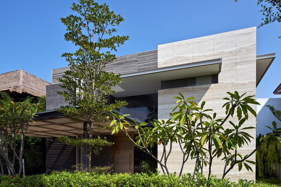 Cove Drive 4, Greg Shand Architects, Modern, Landed, Exterior View, Shelter, Plants, Two Storey, Building, House, Housing, Villa, Patio, Pergola, Porch