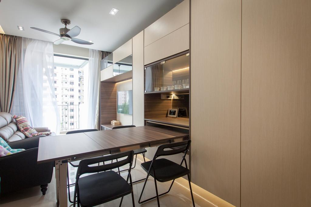 Modern, Condo, Dining Room, Sengkang Square, Interior Designer, Space Atelier, Wooden Table, Dining Table, Furniture, Table, Couch, Chair, HDB, Building, Housing, Indoors