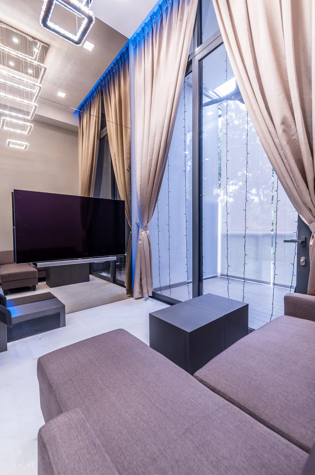 Modern, Condo, Living Room, Robin Drive, Interior Designer, Space Atelier, Chair, Furniture, Indoors, Interior Design
