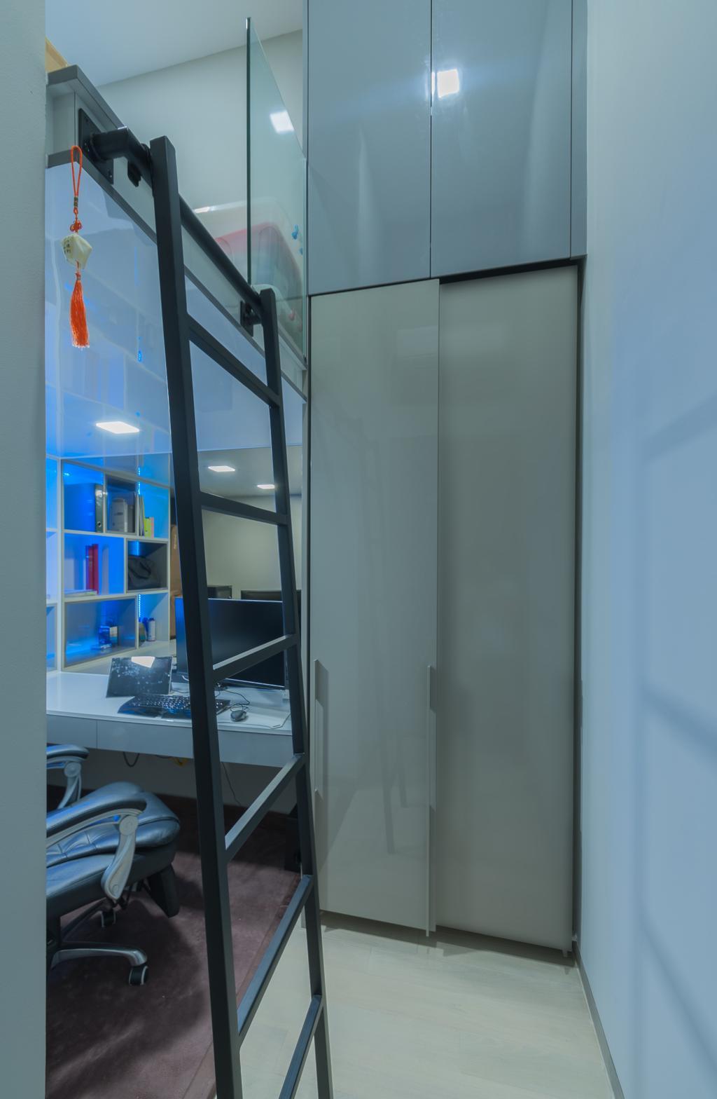 Modern, Condo, Study, Robin Drive, Interior Designer, Space Atelier
