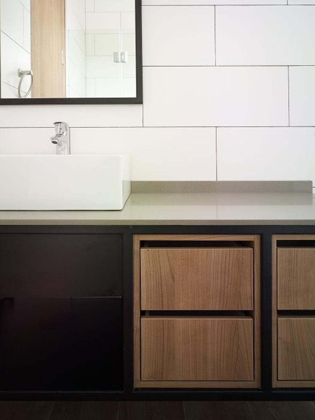 Minimalistic, Landed, House at JM, Architect, OWMF Architecture, Furniture, Sideboard, Molding