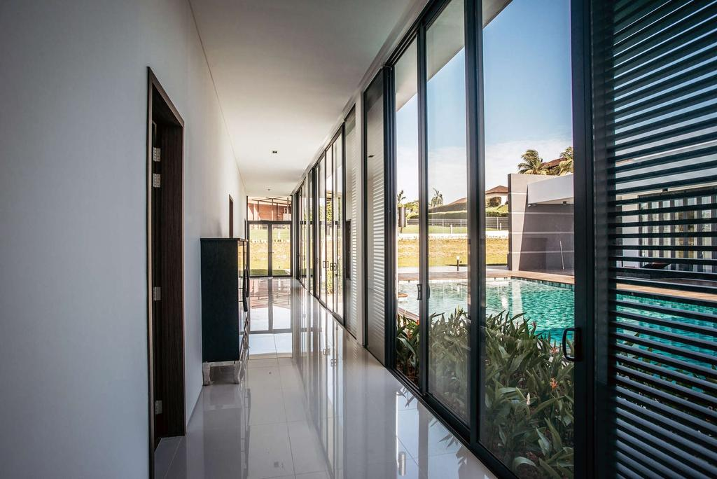 Modern, Landed, Pool House, Architect, Code Red Studio, Contemporary, Flora, Jar, Plant, Potted Plant, Pottery, Vase, Corridor