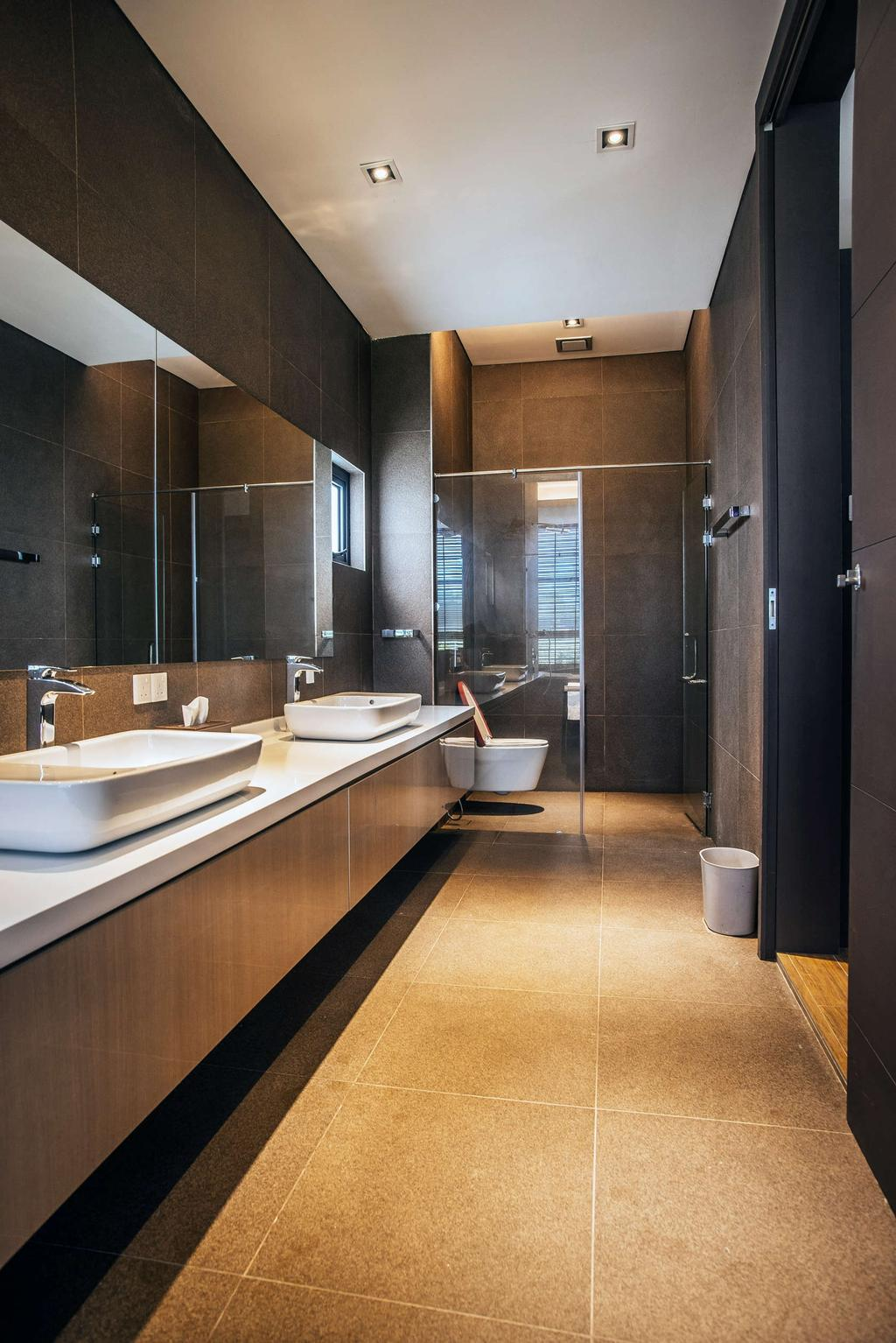 Modern, Landed, Bathroom, Pool House, Architect, Code Red Studio, Contemporary, Indoors, Interior Design, Room, Door, Bowl
