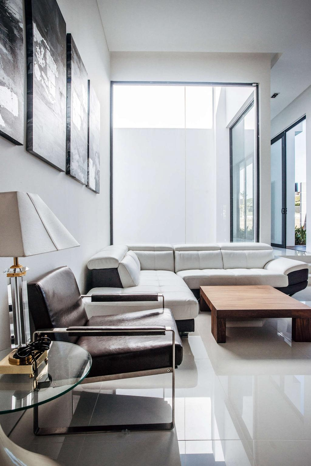 Modern, Landed, Living Room, Pool House, Architect, Code Red Studio, Contemporary, Couch, Furniture, Chair